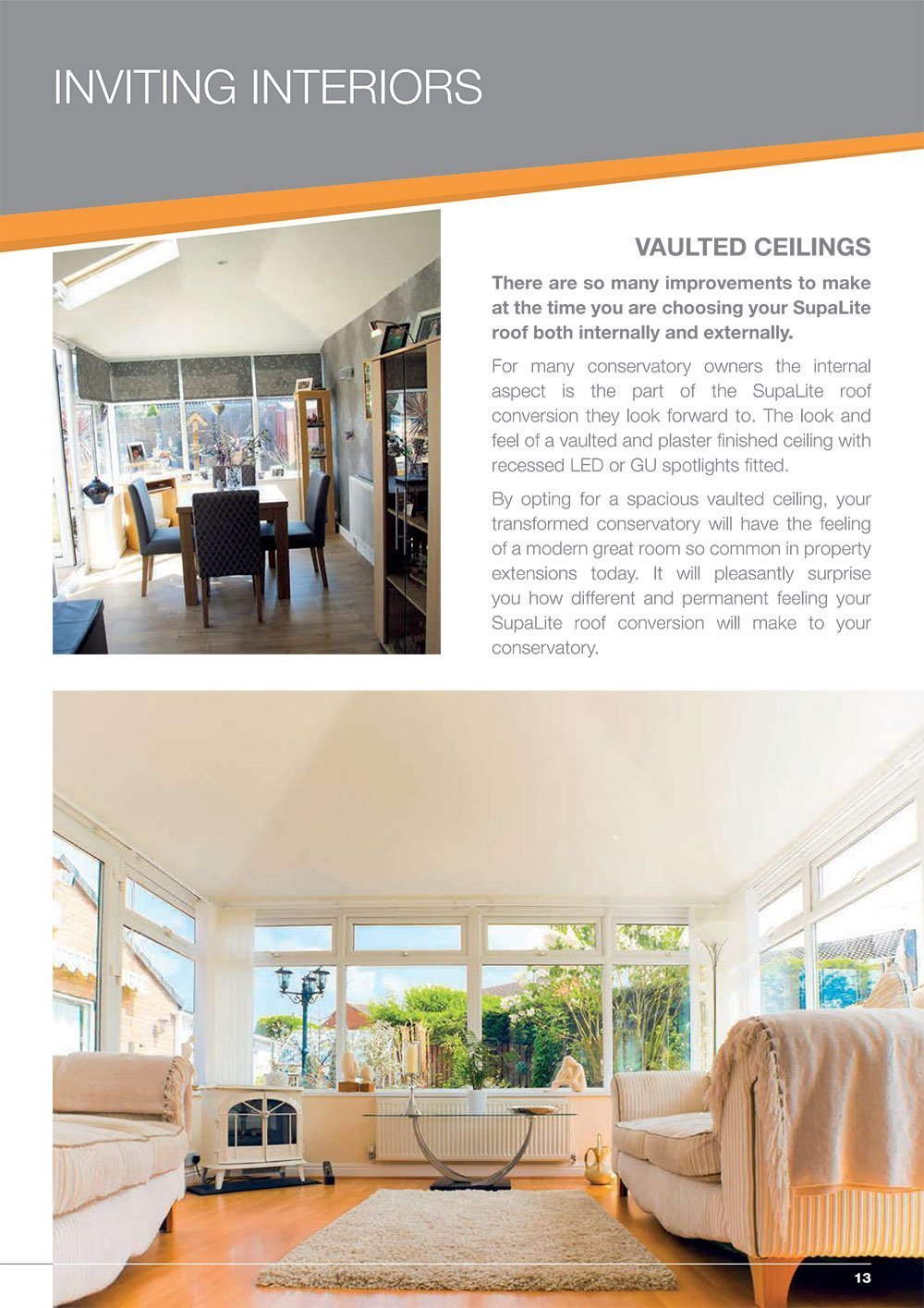 Supalite offers high quality, lightweight tiled roofing for your conservatory